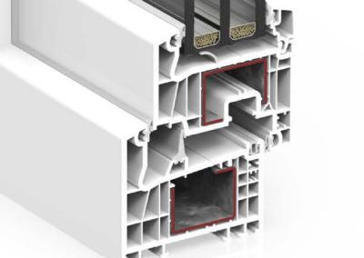 Ventana PVC Abatible S84A