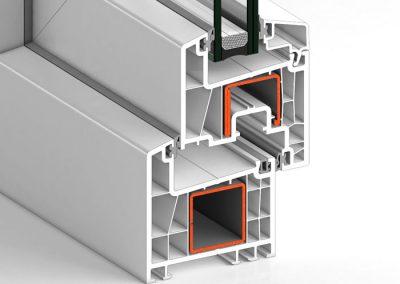 Ventana PVC Abatible S70A