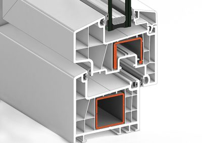 Ventana PVC Abatible S78A